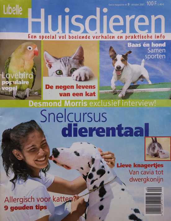 Special edition about pets, ordered by the Flemish women's magazine Libelle