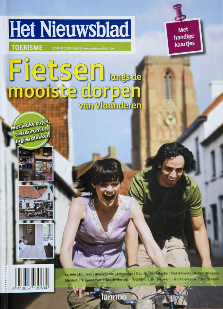Magazine 'Cycling through the most attractive Flemish villages'. Ordered by Uitgeverij Lannoo, Tielt.